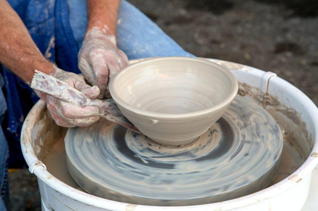 clay, potter, wheel