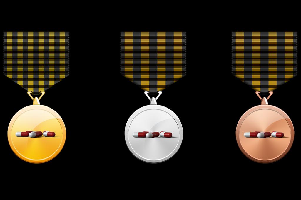 medal, gold medal, silver medal